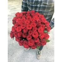 51 червона троянда Гран Прі 60 см