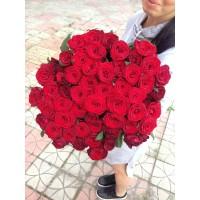 51 червона троянда Гран Прі 70 см