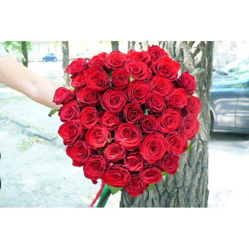 51 червона троянда Гран Прі 80 см