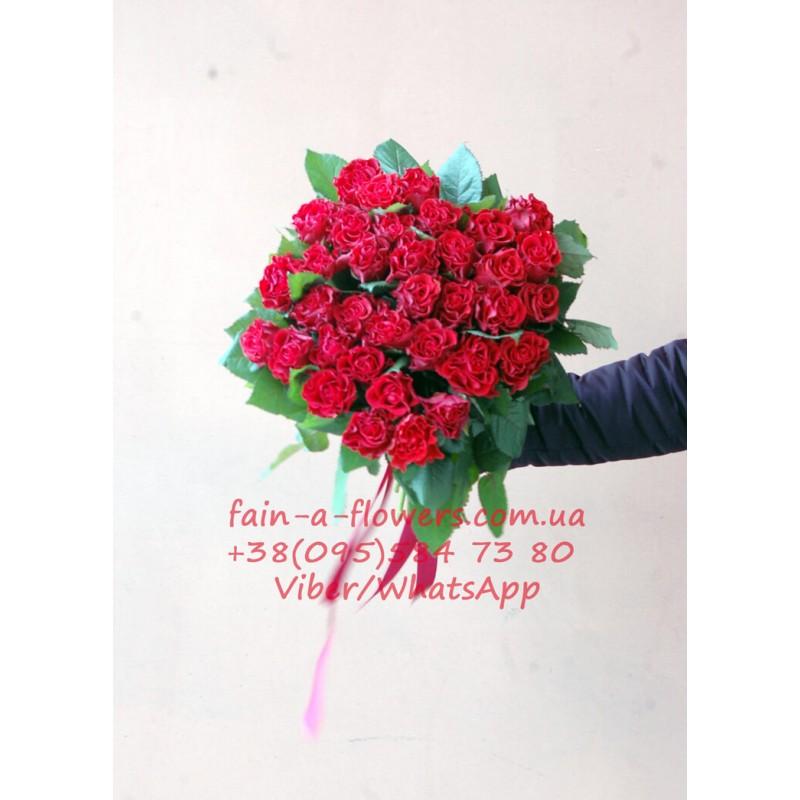 51 червона троянда Ель торо 60 см