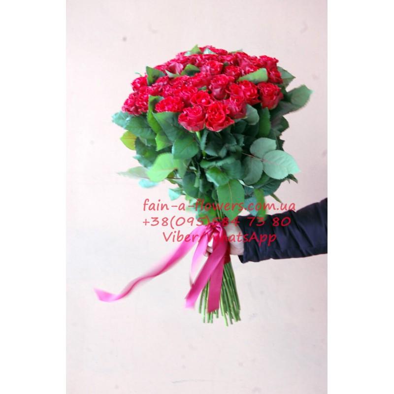 51 красная роза Эль Торо 60 см